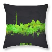 Toronto Canada Throw Pillow by Aged Pixel