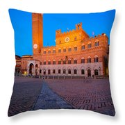 Torre Del Mangia Throw Pillow by Inge Johnsson