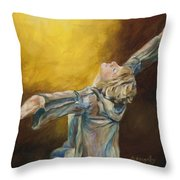 Total Abandon Throw Pillow by Chris Brandley