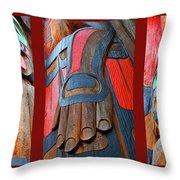 Totem 3 Throw Pillow by Theresa Tahara