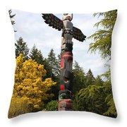 Totem Pole  Throw Pillow by Carol Groenen