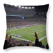 Touchdown Patriots Nation Throw Pillow by Juergen Roth