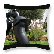 Tour de France Throw Pillow by FRANCE  ART
