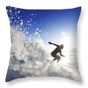 Towards The Light Throw Pillow by Sean Davey