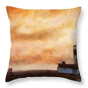 Towards The Shore Throw Pillow by Pixel Chimp