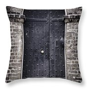 Tower Door Throw Pillow by Heather Applegate