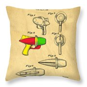 Toy Ray Gun Patent II Throw Pillow by Edward Fielding
