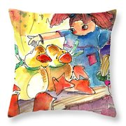 Toy Story In Lanzarote 02 Throw Pillow by Miki De Goodaboom