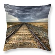 Tracks Across The Land Throw Pillow by Bob Christopher