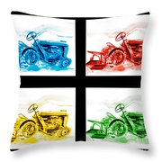 Tractor Mania Iv Throw Pillow by Kip DeVore