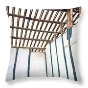 Traditional Chinese Bamboo Structure Throw Pillow by Yali Shi