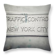 Traffic Control Throw Pillow by Lisa Russo