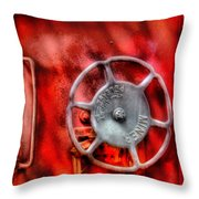 Train - Car - The Wheel Throw Pillow by Mike Savad