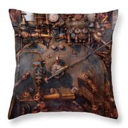 Train - Engine - Hot Under The Collar  Throw Pillow by Mike Savad