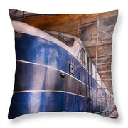 Train - The Maintenance Facility Throw Pillow by Mike Savad