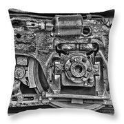Train Wheel Throw Pillow by Cindi Ressler