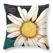 Tranquil Daisy 2 Throw Pillow by Debbie DeWitt
