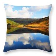 Tranquility Throw Pillow by Ayse Deniz