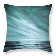 Tranquility Sunset Throw Pillow by Gina De Gorna