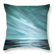 Tranquility Sunset Throw Pillow by Gina De Gorna