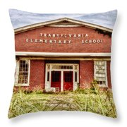 Transylvania Elementary Throw Pillow by Scott Pellegrin