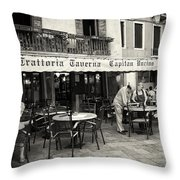 Trattoria In Venice  Throw Pillow by Madeline Ellis