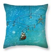 Treasure Hunter Throw Pillow by Cindy Thornton
