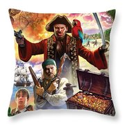 Treasure Island Throw Pillow by Steve Crisp