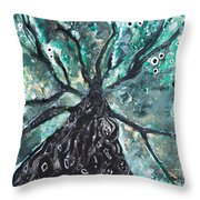 Tree Branches Above Throw Pillow by Tara Thelen