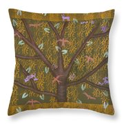 Tree Of Life Throw Pillow by Diana Perfect