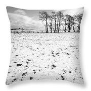 Trees In Snow Scotland IIi Throw Pillow by John Farnan