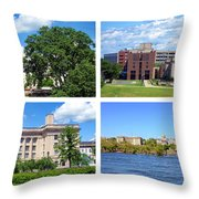 Trenton New Jersey Throw Pillow by Olivier Le Queinec