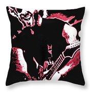 Trey Anastasio In Pink Throw Pillow by Joshua Morton