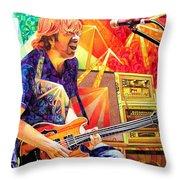 Trey Anastasio Squared Throw Pillow by Joshua Morton