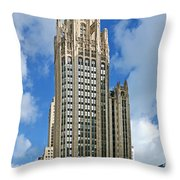 Tribune Tower - Beautiful Chicago Architecture Throw Pillow by Christine Till