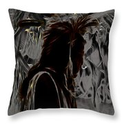 Tribute To Mateo Throw Pillow by Cheryl Young