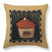 Trick Or Treat Throw Pillow by Catherine Holman
