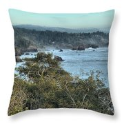 Trinidad Beach Landscape Throw Pillow by Adam Jewell