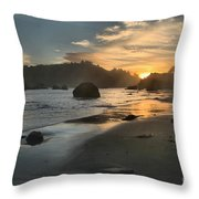 Trinidad Sunset Reflections Throw Pillow by Adam Jewell
