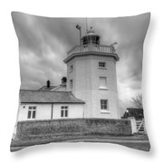 Trinity House Lighthouse Bw Throw Pillow by David French