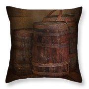 Triple Barrels Throw Pillow by Susan Candelario