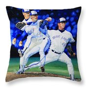 Triple Play Throw Pillow by Hanne Lore Koehler
