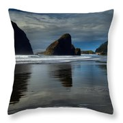 Triple Reflections Throw Pillow by Adam Jewell