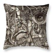 Tripping Through Bogomils Mind Throw Pillow by Otto Rapp