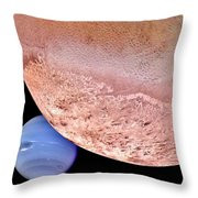 Triton And Neptune Throw Pillow by Benjamin Yeager