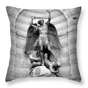 Triumphant Saint Michael Throw Pillow by Carol Groenen