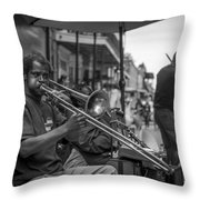Trombone in New Orleans 2 Throw Pillow by David Morefield