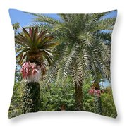 Tropical Garden Throw Pillow by Kim Hojnacki