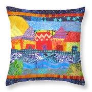 Tropical Harmony Throw Pillow by Susan Rienzo