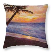 Tropical Interlude Throw Pillow by Eve  Wheeler